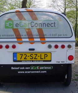 eCarConnect, autobelettering, Voertuigreclame, autoreclame, voertuigbelettering, full color, one way vision, raam blindering, privacy, Thorn, Maasgouw